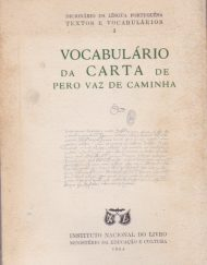vocabulario da carta de Vaz